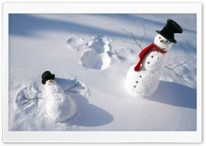 Snowmen HD Wide Wallpaper for Widescreen