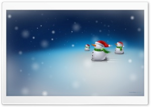 Snowmen Skiing HD Wide Wallpaper for Widescreen