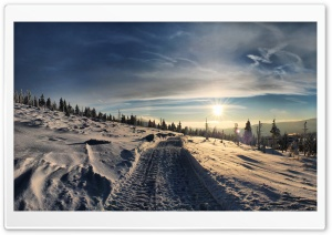 Snowmobile Trails HD Wide Wallpaper for Widescreen
