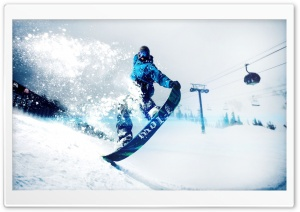 Snowskate Winter Sports HD Wide Wallpaper for Widescreen