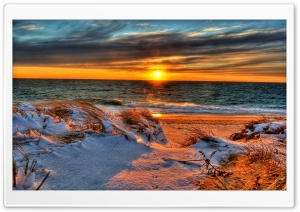 Snowy Beach HD Wide Wallpaper for Widescreen