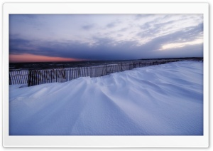 Snowy Beach, Winter HD Wide Wallpaper for Widescreen