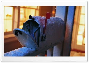 Snowy Mailbox HD Wide Wallpaper for Widescreen