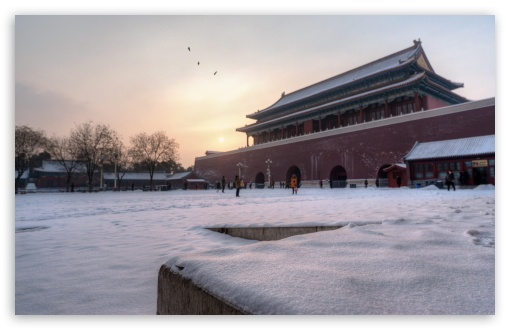 Snowy Morning at the Forbidden City HD wallpaper for Wide 16:10 5:3 Widescreen WHXGA WQXGA WUXGA WXGA WGA ; HD 16:9 High Definition WQHD QWXGA 1080p 900p 720p QHD nHD ; UHD 16:9 WQHD QWXGA 1080p 900p 720p QHD nHD ; Standard 4:3 5:4 3:2 Fullscreen UXGA XGA SVGA QSXGA SXGA DVGA HVGA HQVGA devices ( Apple PowerBook G4 iPhone 4 3G 3GS iPod Touch ) ; Tablet 1:1 ; iPad 1/2/Mini ; Mobile 4:3 5:3 3:2 16:9 5:4 - UXGA XGA SVGA WGA DVGA HVGA HQVGA devices ( Apple PowerBook G4 iPhone 4 3G 3GS iPod Touch ) WQHD QWXGA 1080p 900p 720p QHD nHD QSXGA SXGA ;