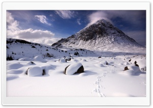 Snowy Mountain Peak HD Wide Wallpaper for Widescreen
