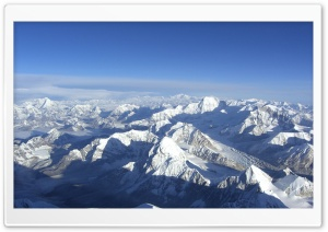 Snowy Mountain Peaks HD Wide Wallpaper for Widescreen