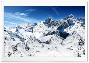 Snowy Mountain Peaks Ultra HD Wallpaper for 4K UHD Widescreen desktop, tablet & smartphone