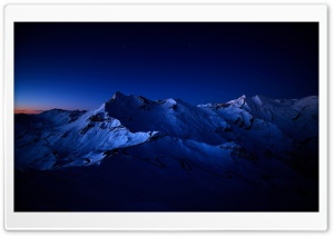 Snowy Mountain Peaks HD Wide Wallpaper for 4K UHD Widescreen desktop & smartphone