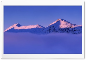 Snowy Mountain, Winter Mist HD Wide Wallpaper for Widescreen