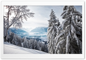 Snowy Mountains HD Wide Wallpaper for Widescreen