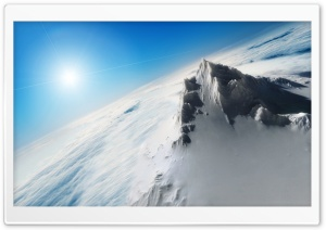 Snowy Peak HD Wide Wallpaper for Widescreen