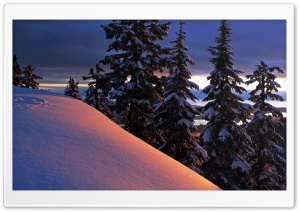 Snowy Ridge, Evening HD Wide Wallpaper for Widescreen
