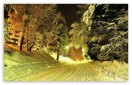 Snowy Road Night HD wallpaper for Wide 16:10 5:3 Widescreen WHXGA WQXGA WUXGA WXGA WGA ; HD 16:9 High Definition WQHD QWXGA 1080p 900p 720p QHD nHD ; Standard 4:3 5:4 3:2 Fullscreen UXGA XGA SVGA QSXGA SXGA DVGA HVGA HQVGA devices ( Apple PowerBook G4 iPhone 4 3G 3GS iPod Touch ) ; Tablet 1:1 ; iPad 1/2/Mini ; Mobile 4:3 5:3 3:2 16:9 5:4 - UXGA XGA SVGA WGA DVGA HVGA HQVGA devices ( Apple PowerBook G4 iPhone 4 3G 3GS iPod Touch ) WQHD QWXGA 1080p 900p 720p QHD nHD QSXGA SXGA ; Dual 5:4 QSXGA SXGA ;