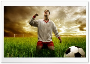 Soccer Player Praying HD Wide Wallpaper for Widescreen