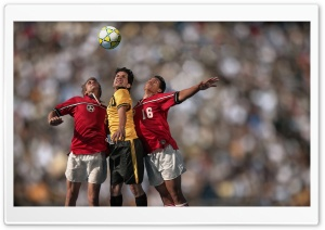 Soccer Players In Action HD Wide Wallpaper for Widescreen