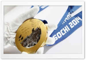 Sochi 2014 Gold Medal HD Wide Wallpaper for 4K UHD Widescreen desktop & smartphone