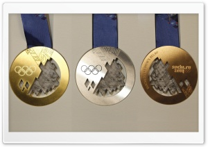 Sochi 2014 Medals HD Wide Wallpaper for Widescreen