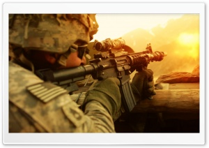 Soldier in Battle HD Wide Wallpaper for 4K UHD Widescreen desktop & smartphone