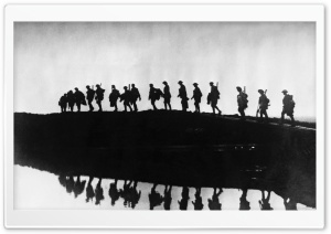 Soldiers Silhouette HD Wide Wallpaper for Widescreen