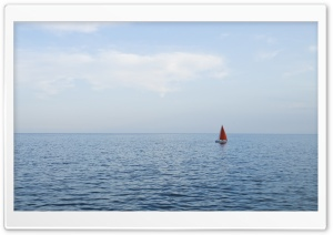 Solo Sail Boat HD Wide Wallpaper for Widescreen