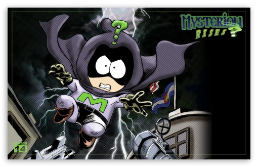 South Park - Mysterion Rises HD wallpaper for Wide 16:10 5:3 Widescreen WHXGA WQXGA WUXGA WXGA WGA ; Standard 4:3 5:4 Fullscreen UXGA XGA SVGA QSXGA SXGA ; iPad 1/2/Mini ; Mobile 4:3 5:3 5:4 - UXGA XGA SVGA WGA QSXGA SXGA ;