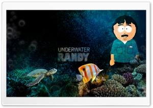South Park - Underwater Randy HD Wide Wallpaper for 4K UHD Widescreen desktop & smartphone