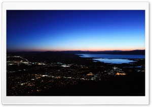 Southern Utah Valley (Night Shot) HD Wide Wallpaper for Widescreen