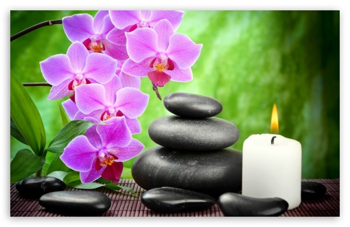 Spa Candle Orchid Flowers Ultra Hd Desktop Background Wallpaper For 4k Uhd Tv Widescreen Ultrawide Desktop Laptop Tablet Smartphone