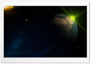 Space Effect Two HD Wide Wallpaper for Widescreen