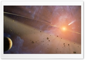 Space Explosion HD Wide Wallpaper for Widescreen