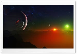 Space Fantasy Landscape HD Wide Wallpaper for 4K UHD Widescreen desktop & smartphone
