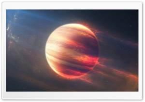 Space Fire Planet HD Wide Wallpaper for Widescreen