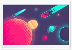 Space illustration HD Wide Wallpaper for 4K UHD Widescreen desktop & smartphone