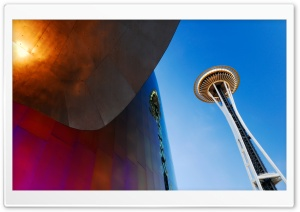 Space Needle, Seattle, WA HD Wide Wallpaper for 4K UHD Widescreen desktop & smartphone