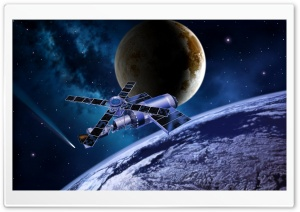 Space Satellite HD Wide Wallpaper for Widescreen