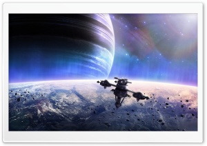 Space Station Big Planets HD Wide Wallpaper for Widescreen