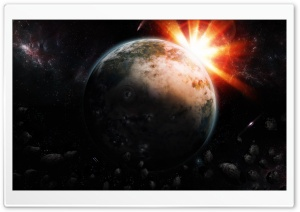 Space Sunrise HD Wide Wallpaper for Widescreen
