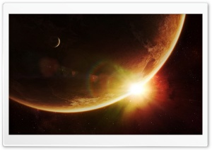 Space Sunrise Art HD Wide Wallpaper for Widescreen