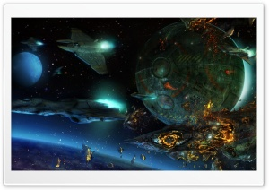 Space War HD Wide Wallpaper for Widescreen