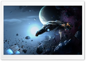 Spacecraft In Space HD Wide Wallpaper for Widescreen