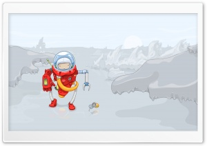 Spaceman Vector Art HD Wide Wallpaper for Widescreen