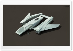 Spaceship 3D Artwork HD Wide Wallpaper for Widescreen
