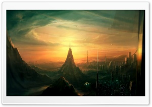 Spaceship View HD Wide Wallpaper for Widescreen