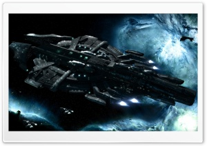 Spaceships In Space HD Wide Wallpaper for Widescreen
