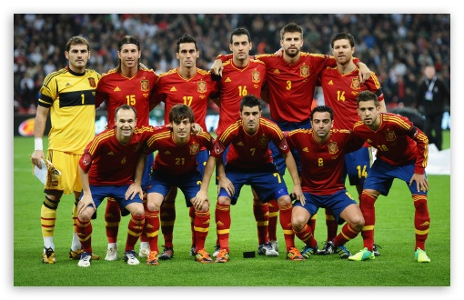 Spain National Team HD wallpaper for Wide 16:10 5:3 Widescreen WHXGA WQXGA WUXGA WXGA WGA ; HD 16:9 High Definition WQHD QWXGA 1080p 900p 720p QHD nHD ; UHD 16:9 WQHD QWXGA 1080p 900p 720p QHD nHD ; Standard 3:2 Fullscreen DVGA HVGA HQVGA devices ( Apple PowerBook G4 iPhone 4 3G 3GS iPod Touch ) ; Mobile 5:3 3:2 16:9 - WGA DVGA HVGA HQVGA devices ( Apple PowerBook G4 iPhone 4 3G 3GS iPod Touch ) WQHD QWXGA 1080p 900p 720p QHD nHD ;