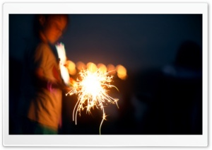 Sparkler Bokeh HD Wide Wallpaper for Widescreen