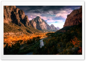 Spectacular Mountain River HD Wide Wallpaper for Widescreen