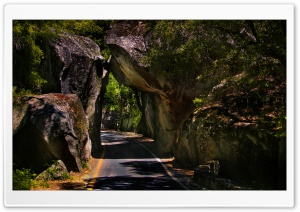 Spectacular Rock Tunnel HD Wide Wallpaper for Widescreen