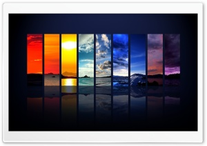 Spectrum Of The Sky HD Wide Wallpaper for Widescreen