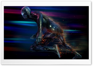Speed Human Colorful HD Wide Wallpaper for Widescreen